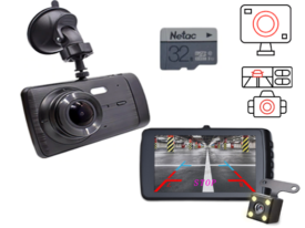 Deelife Dash Cam лучший китайский авторегистратор с камерой заднего вида