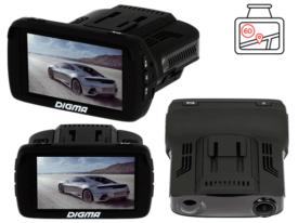 Digma DCD-300 гибридный видеорегистратор с антирадаром и навигатором