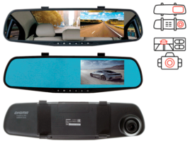 Digma FreeDrive 303 Mirror Dual Black зеркало видеорегистратор с 2 камерами