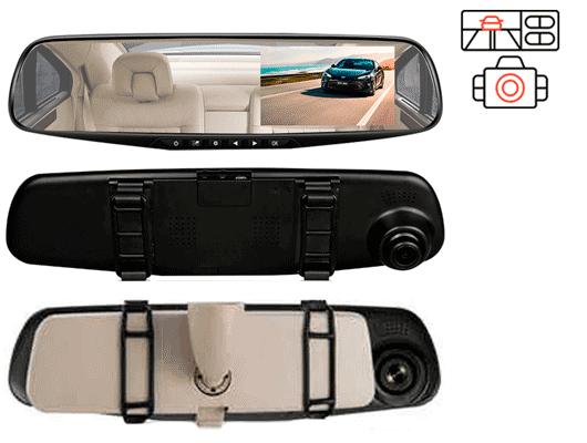 E-ACE A08 - недорогое хорошее зеркало видеорегистратор
