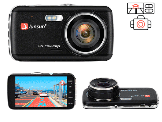 Junsun H7 - недорогой видеорегистратор с камерой заднего вида