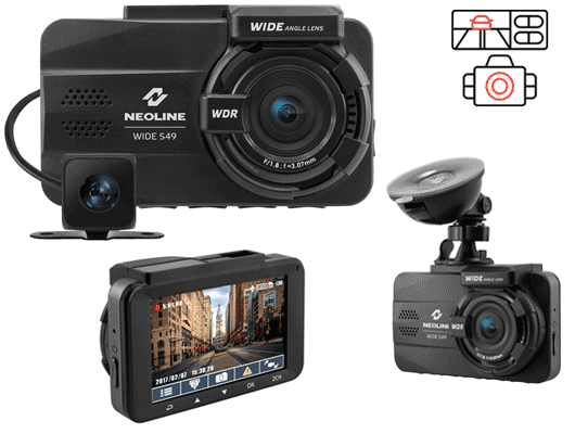 Neoline Wide S49 - видеорегистратор с камерой заднего вида