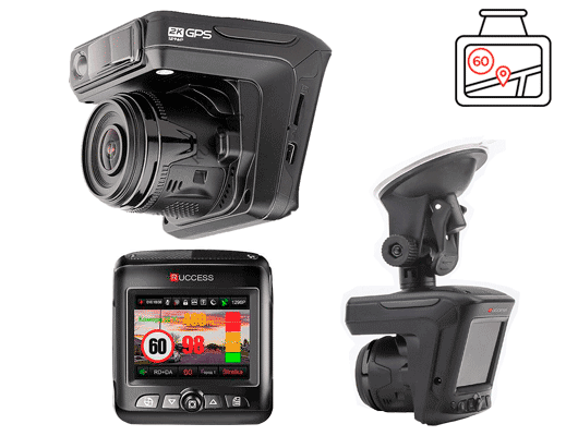 видеорегистратор Ruccess-STR-LD200-G с радар детектором и GPS