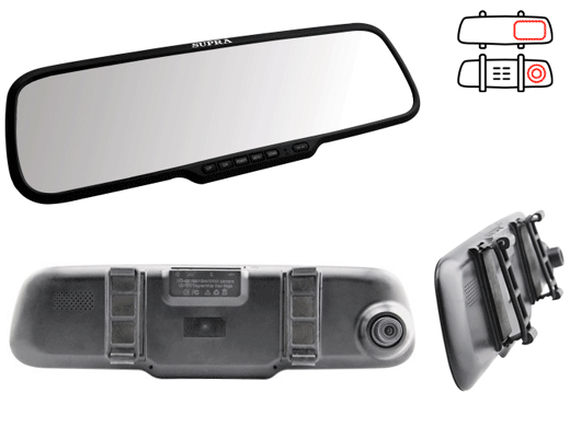 Видеорегистратор зеркало Supra SCR-537M