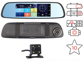 зеркало регистратор Dunobil Spiegel Smart Duo 4G