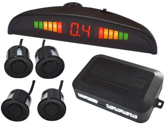 Передние и задние парктроники ParkMaster на 4 и 8 датчиков с монитором