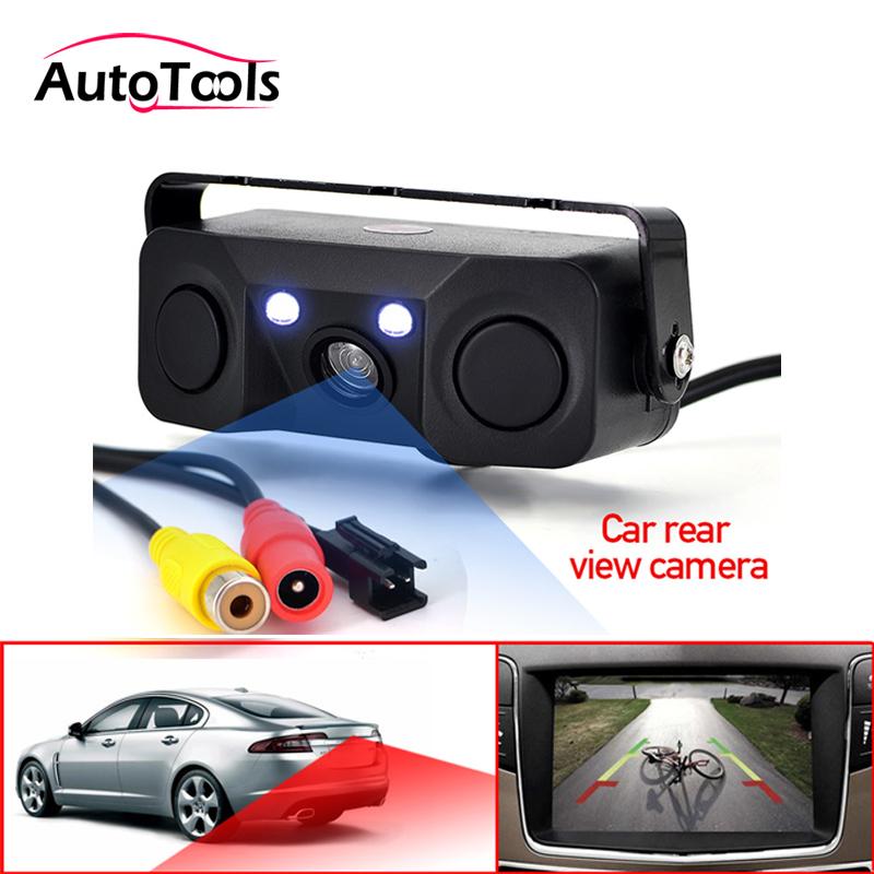 3 in 1 Car Parking sensor Rear View Camera with 2 Sensors Indicator buzzer Alarm Car Reverse Radar Assistance System car camera|car reverse radar|car radar systemradar system - AliExpress