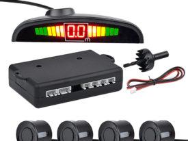 Парктроники 4 датчика со светодиодным дисплем