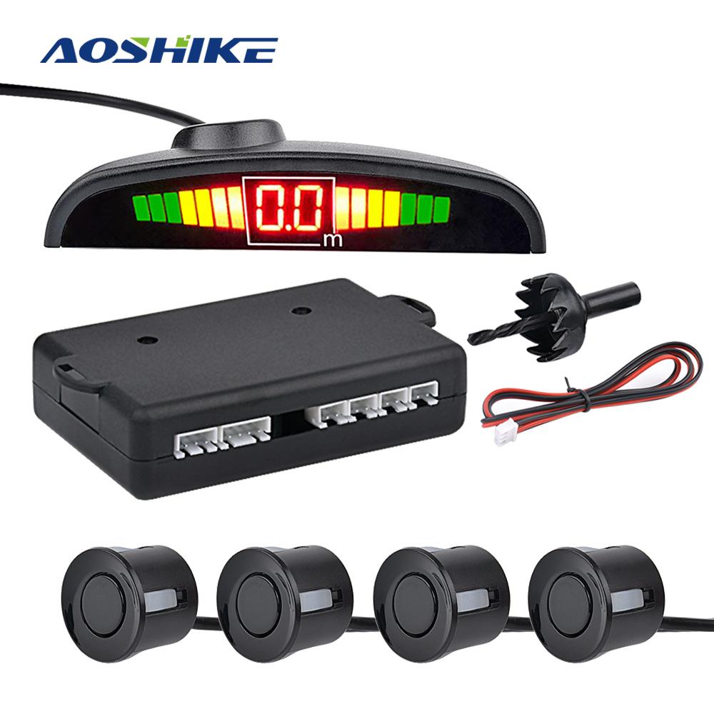 AOSHIKE Car Auto Parktronic LED Parking Sensor with 4 Sensors Reverse