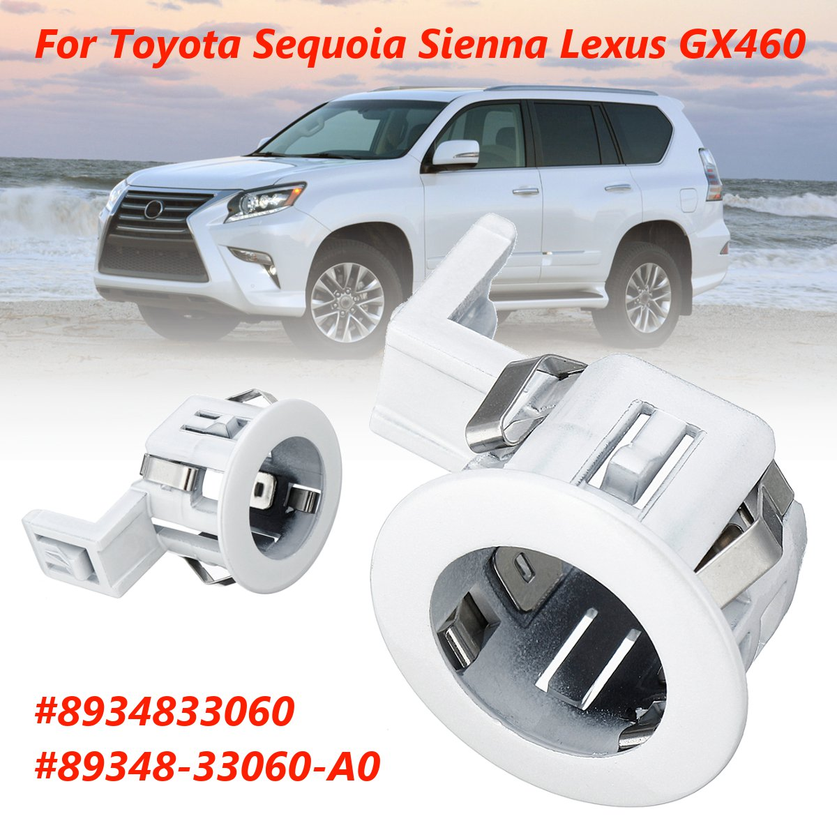 Parking Sensor Retainer PDC For Toyota Sequoia Sienna for Lexus GX460 8934833060 89348 33060 A0|Parking Sensors| - AliExpress