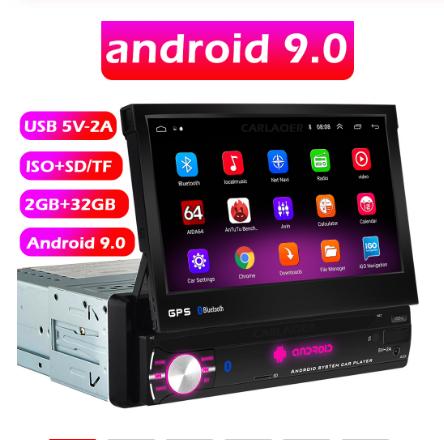 магнитола с выдвижным экраном на Андроиде 9.0 - Carlaooer