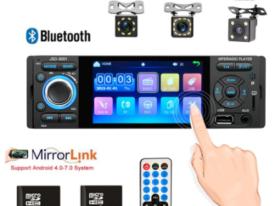 недорогая 1 дин автомагнитола с сенсорным экраном MFWNITBL и камерой заднего вида