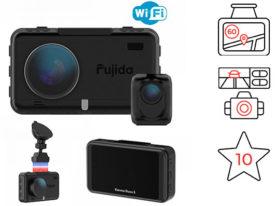 Fujida Karma Duos S WiFi 64GB регистратор с радар детектором и камерой заднего вида